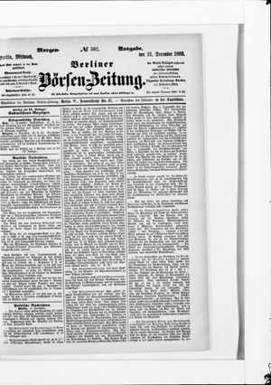 Berliner Börsen-Zeitung vom 12.12.1883