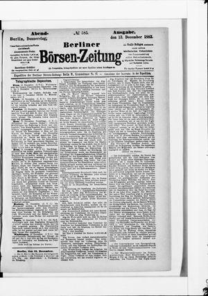 Berliner Börsen-Zeitung vom 13.12.1883
