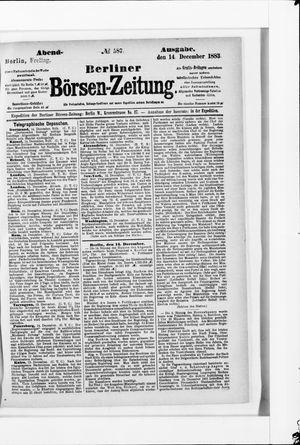 Berliner Börsen-Zeitung vom 14.12.1883