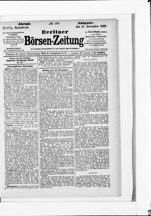 Berliner Börsen-Zeitung vom 15.12.1883