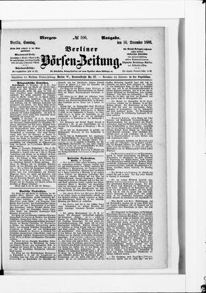 Berliner Börsen-Zeitung vom 16.12.1883