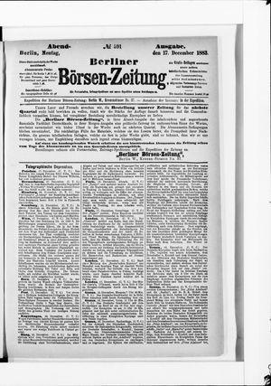 Berliner Börsen-Zeitung vom 17.12.1883