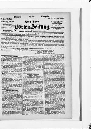 Berliner Börsen-Zeitung vom 18.12.1883