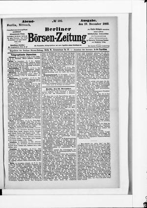 Berliner Börsen-Zeitung vom 19.12.1883