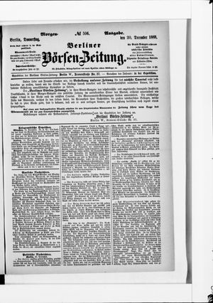 Berliner Börsen-Zeitung vom 20.12.1883
