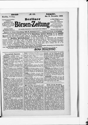Berliner Börsen-Zeitung vom 21.12.1883