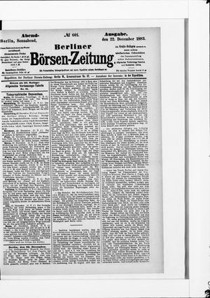 Berliner Börsen-Zeitung vom 22.12.1883