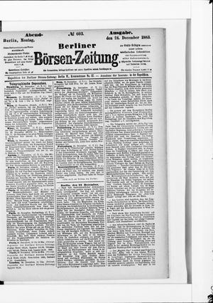 Berliner Börsen-Zeitung vom 24.12.1883