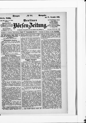 Berliner Börsen-Zeitung vom 25.12.1883