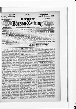 Berliner Börsen-Zeitung vom 27.12.1883