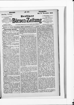 Berliner Börsen-Zeitung vom 28.12.1883