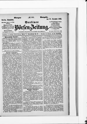 Berliner Börsen-Zeitung vom 29.12.1883