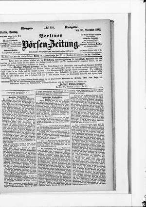Berliner Börsen-Zeitung vom 30.12.1883