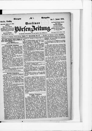 Berliner Börsen-Zeitung vom 01.01.1884