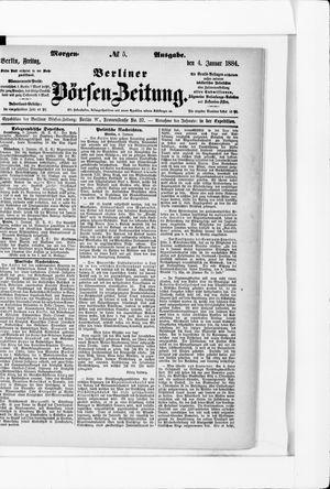 Berliner Börsen-Zeitung vom 04.01.1884