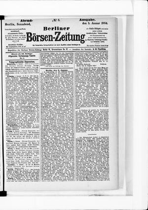 Berliner Börsen-Zeitung vom 05.01.1884