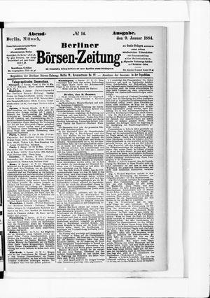Berliner Börsen-Zeitung vom 09.01.1884