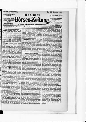 Berliner Börsen-Zeitung vom 10.01.1884
