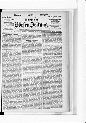 Berliner Börsen-Zeitung vom 11.01.1884