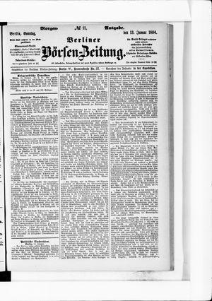 Berliner Börsen-Zeitung vom 13.01.1884