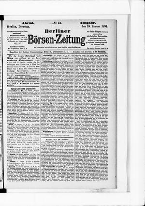 Berliner Börsen-Zeitung vom 15.01.1884