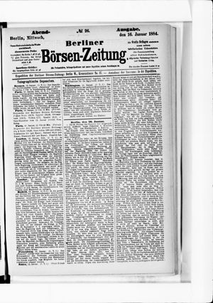 Berliner Börsen-Zeitung vom 16.01.1884