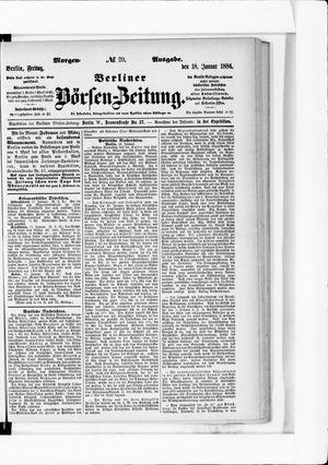Berliner Börsen-Zeitung vom 18.01.1884