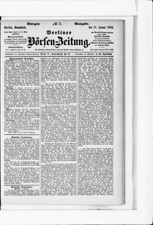 Berliner Börsen-Zeitung vom 19.01.1884