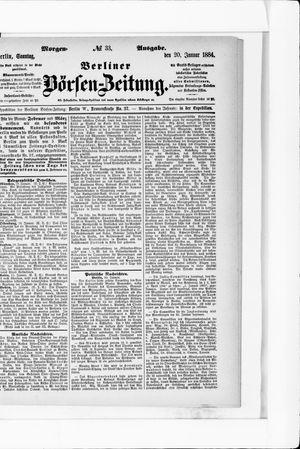 Berliner Börsen-Zeitung vom 20.01.1884