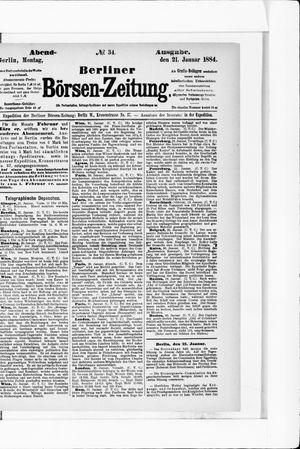 Berliner Börsen-Zeitung vom 21.01.1884