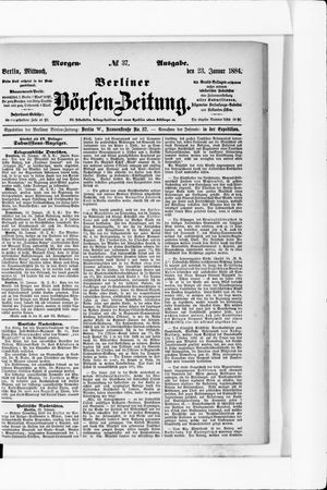 Berliner Börsen-Zeitung vom 23.01.1884