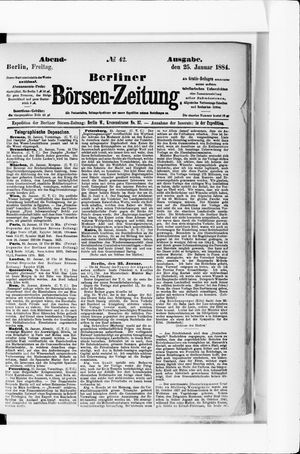 Berliner Börsen-Zeitung vom 25.01.1884