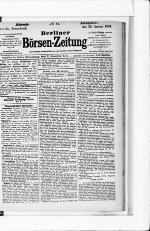 Berliner Börsen-Zeitung on Jan 26, 1884