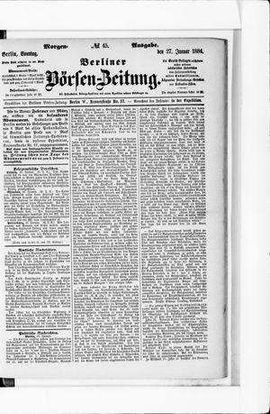 Berliner Börsen-Zeitung vom 27.01.1884