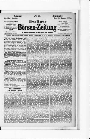 Berliner Börsen-Zeitung vom 28.01.1884