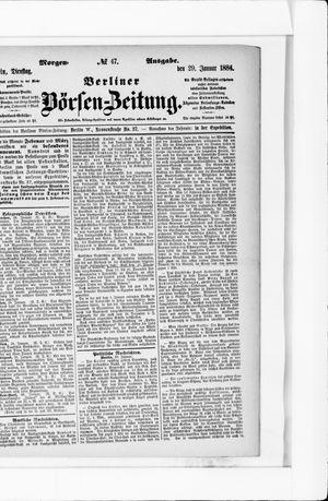 Berliner Börsen-Zeitung vom 29.01.1884