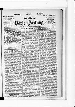 Berliner Börsen-Zeitung vom 30.01.1884