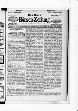 Berliner Börsen-Zeitung vom 02.02.1884
