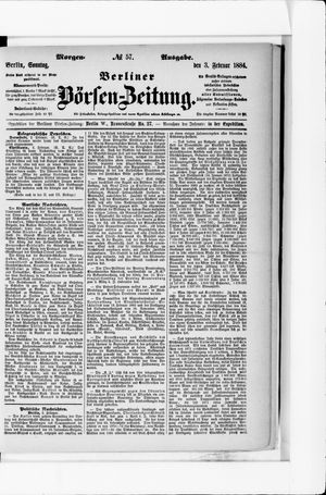 Berliner Börsen-Zeitung vom 03.02.1884