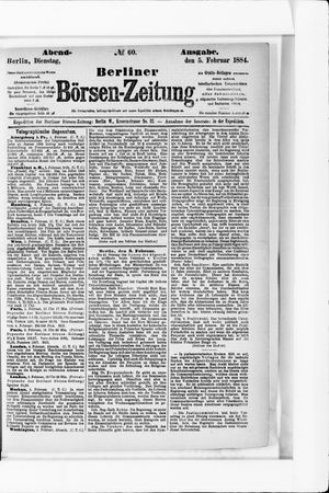 Berliner Börsen-Zeitung vom 05.02.1884