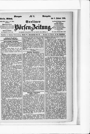 Berliner Börsen-Zeitung vom 06.02.1884