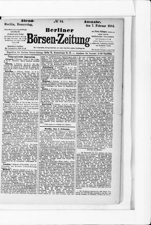 Berliner Börsen-Zeitung vom 07.02.1884