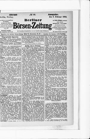 Berliner Börsen-Zeitung vom 08.02.1884