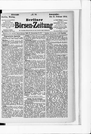 Berliner Börsen-Zeitung vom 11.02.1884