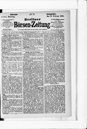 Berliner Börsen-Zeitung vom 12.02.1884