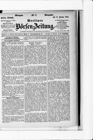 Berliner Börsen-Zeitung vom 13.02.1884