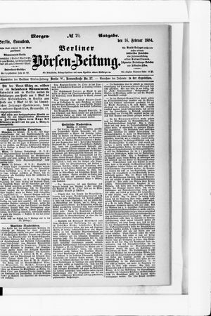 Berliner Börsen-Zeitung vom 16.02.1884