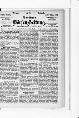 Berliner Börsen-Zeitung vom 17.02.1884