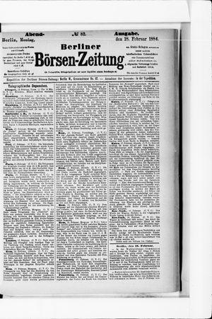 Berliner Börsen-Zeitung vom 18.02.1884