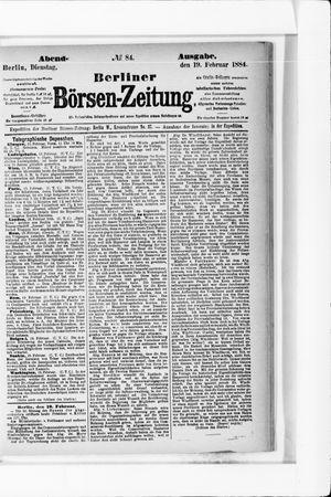 Berliner Börsen-Zeitung vom 19.02.1884
